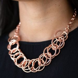 Paparazzi Heavy Metal Hero Copper Necklace Set